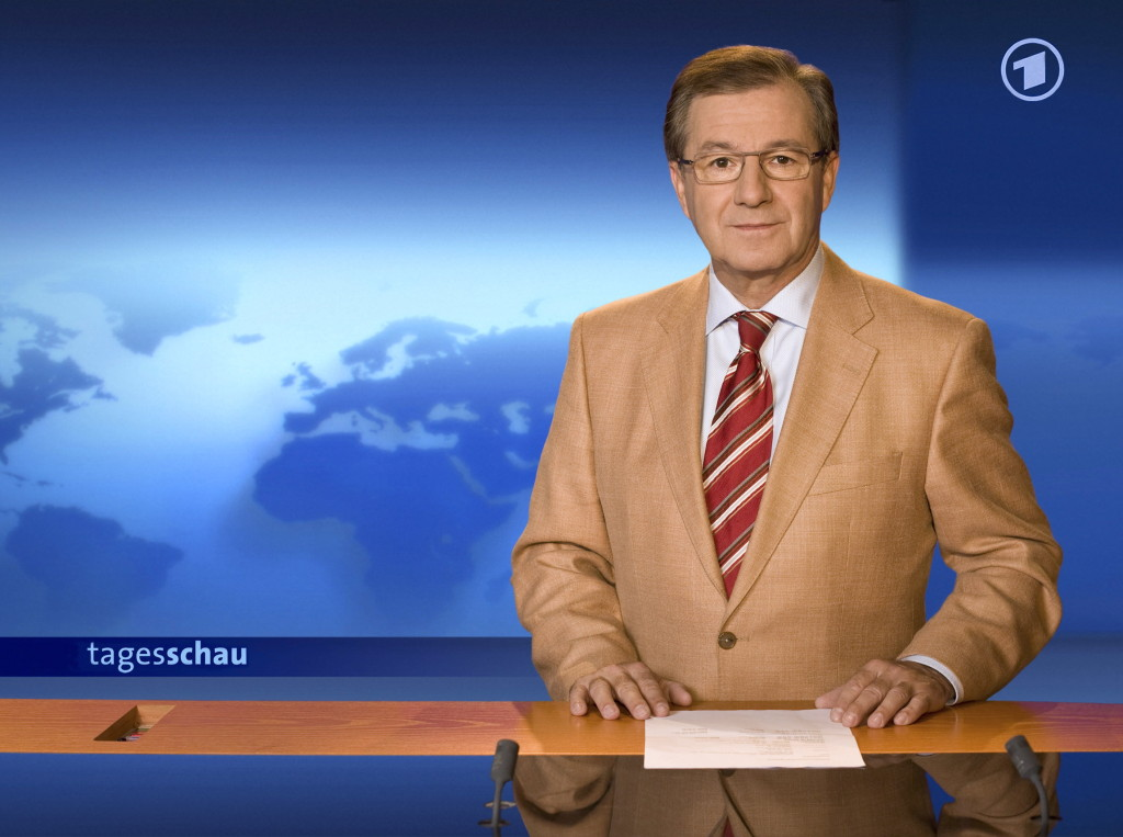 ARD每晚八點的新聞節目Tagesschau,深受大眾信賴。出處:NDR/Holde Schneider