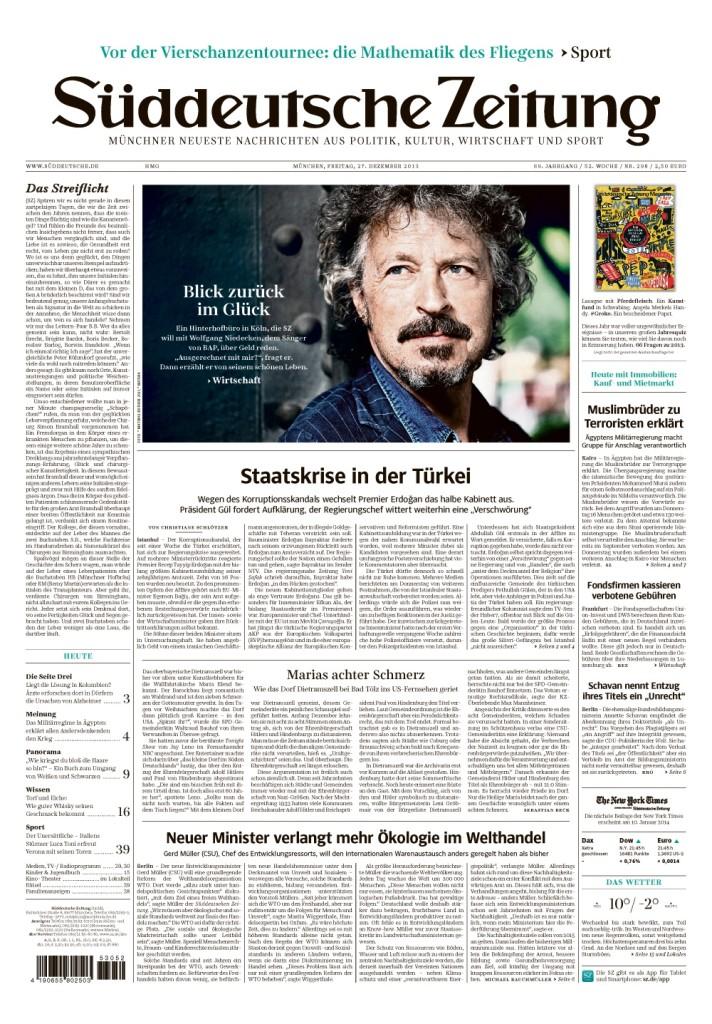 慕尼黑南德日報的深度和廣度,領先歐洲各大報。